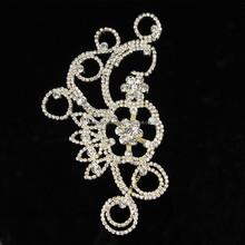 Latest Design Golden Crystal Fashion Fancy Rhinestone Appliques Decoration RA132J