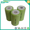 2015 top hot large capacity 1.2v D size ni-mh rechargeable batterys with long shelf life
