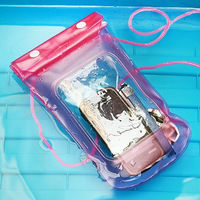 2013 new design clear pvc universal eco-friendly waterproof bag for mobile phone