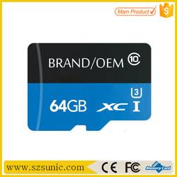 Micro original import sd 64gb memory cards china 64GB TF Card