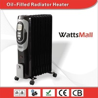 China Made Energy Saving Space Oil Filled Radiant Heater with LCD Display
