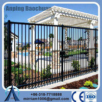 arts and craft antique aluminum wrought iron fence for rgarden