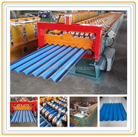 Aluminum Corrugated And IBR Steel Roof Sheet Making Machine / Sheet Roofing Panel Roll Forming Machine