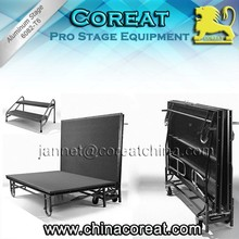 Aluminum Outdoor Mobile Folding Stage Guangzhou Supplier