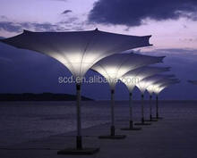 high-end flower mode patio umbrella with lamp