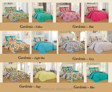 Reversible Polyester Printed King Size Bedroom Sets