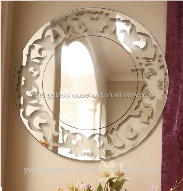 diseo nico de vidrio sin marco espejo del bao para el hogar y decoracin del hotel