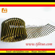 Prego da bobina fabricante, de boa qualidade, preço do competidor parafuso da haste da bobina de fio pregos