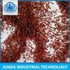 High quality alluvial Si O2 37.77% garnet sand 30 60 abrasive for chain type shot blasting machine use