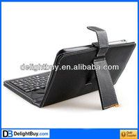 Black Leather Case with Mini USB Interface Keyboard for 7 inch MID Tablet PC
