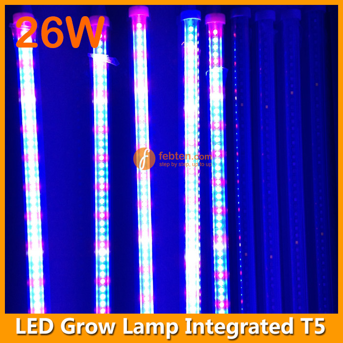 2m 4ft t5 blue red led plant grow light tube 26w with long life span. Black Bedroom Furniture Sets. Home Design Ideas