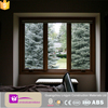 2016 modern aluminium top hung window and fixed window wooden color