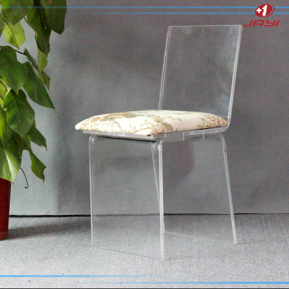 Jayi acrylic furniture lucite vanity chair clear perspex for Perspex furniture