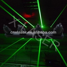 disco moving head laser green color 4 tunnel
