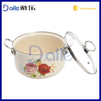 Enamelware Casserole happy call cookware
