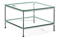 Double layers hot selling glass coffee table 268FS#