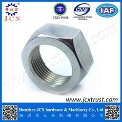 white steel nut