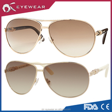 New arrival polarized aviator sunglasses with mixed temple