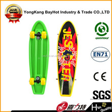 21inch plastic Skateboard with PVC wheel