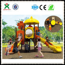 Outdoor and indoor play park slides playground swing bridge plastic playground equipment south africa QX-08B