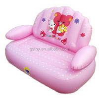 pink inflatable double kids recliner sofa chair