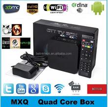 2015 Best Selling Quad Core 4K Amlogic S805 mxq 1GB/8GB WIFI Android 4.4 TV box MXQ