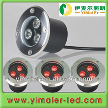 3w ip67 12v in ground led lights changeable color