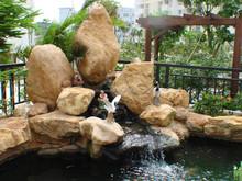 Natural decorative garden yellow River Pebble Rocks stone