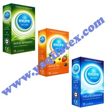studded/dotted condoms flavors, lubricants, thicknesses and packaging