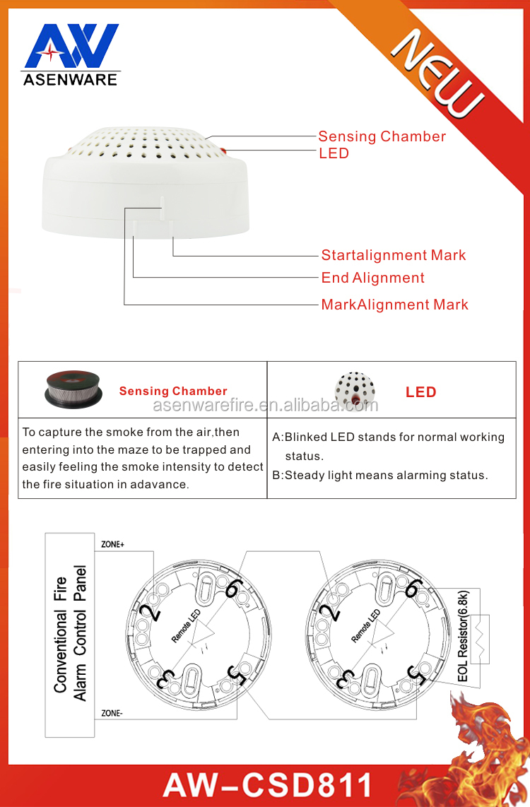 Smoke Detector Wiring Connect Alarm Bell With Fire System A House For Alarms