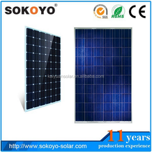 tradeassurance high efficiency monocrystalline silicon solar module price per watt solar panel