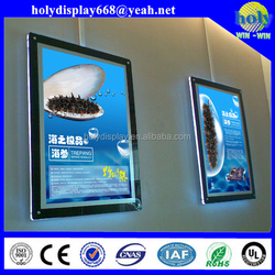 hanging wall/window crystal light box display,aluminium frame led advertising light box