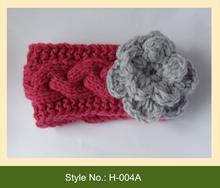 H-004A fashion baby girl infant crochet knit headband