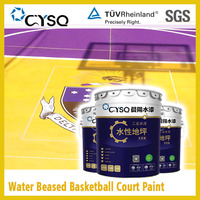 Water based outdoor basketball court paint
