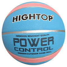 cheap promotion rubber basketball factory /high quality colorful durable outdoor rubber basketball