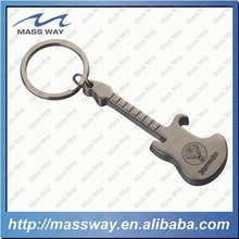 promotional fanny guitar key chain custom 3D metal beer bottle opener
