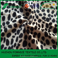 China Supplier polyester FDY yarn animal design printed velour fabric