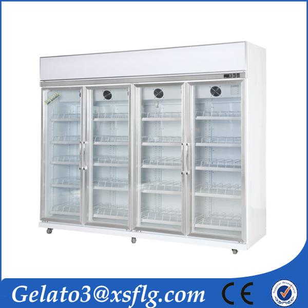 Customized frozen showcase supermarket display freezer.jpg