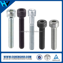 China Supplier Supply Stainless Steel Socket Cap Screw, Plain Finish, Flat Head, Internal Hex Drive, Meets DIN 7991