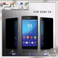 wholesale cell phone accessories 180 degree anti peek tempered glass screen protector for sony xperia z4