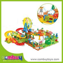 wholesale model train children b/o diy building brick set