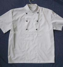 Chaqueta de diseño de moda del cocinero, de manga corta
