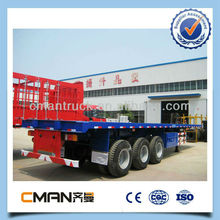 China New 3 axle heavy duty 40ft flatbed shipping container trailer hot sale