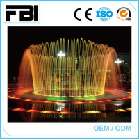 outdoor dry music dancing fountain, park fountain,entertaining fountain