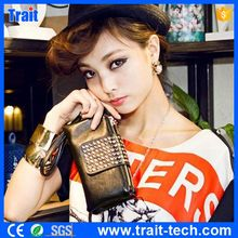 Korean Style Design Lady Rivet Handbag Casual Wallet Women Purse