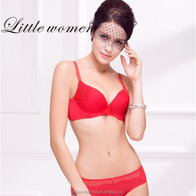 Chinese manunifacture Red color sex breathable young gril cute cotton panties