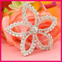wholesale fashion bigger crystal stone center decorative rhinestone flower WRP-067