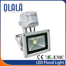 High quality IP65 CE ROHS PIR 10w LED flood outdoor light