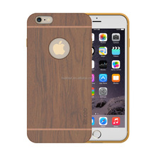 Factory price customize wood case for iphone 6s tpu rubber bumper inside