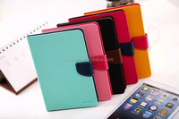 Cindy Solid Color Flip Stand PU Leather Tablet Cover Case For iPad air 2 With Card Slot